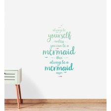 Mermaid Quote Wall Sticker