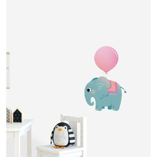 Elephant With Big Balloon Wall Sticker