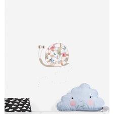 Cute Happy Snail Wall Sticker