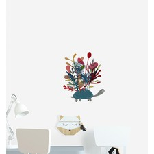 Turtle With Shell Forest Wall Sticker
