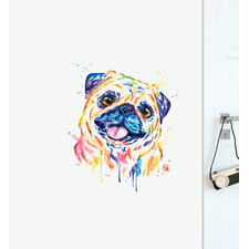 Fawn Pug Wall Sticker