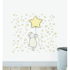 Lamb Floating With Star Balloon Wall Sticker