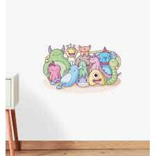 Monster Family Photo Wall Sticker