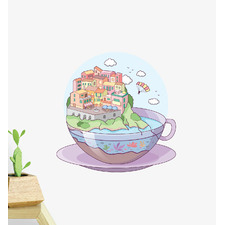 Tea Town Wall Sticker