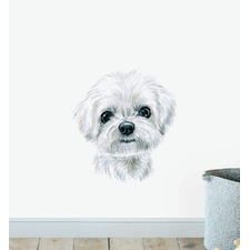 Maltese Dog Wall Sticker
