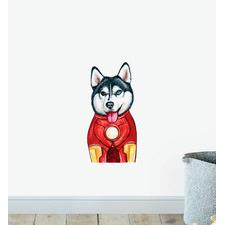 Ironman Husky Dog Wall Sticker