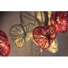 1.85m Multi-Coloured Heart String Fairy Lights