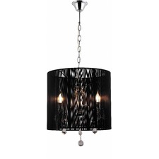 Pairs 3 Lights Chandelier with Black Shade