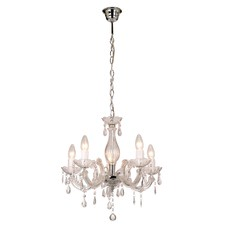 White Toulouse 5 Light Acrylic Chandelier