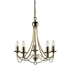 Orangis 5 Lights Metal Chandelier
