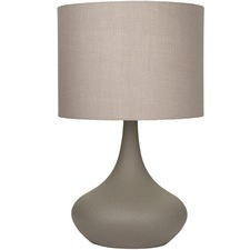 Grey Fontaine Steel Table Lamp