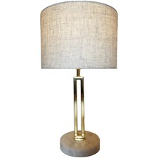 Brass Croix Marble & Metal  Table Lamp