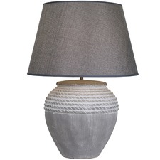Antique Effect Ceramic Rope Table Lamp
