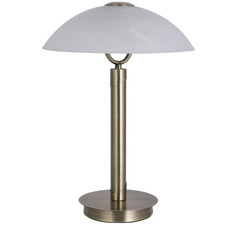 White Orly 2 Light Metal Table Lamp