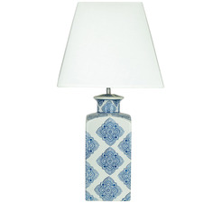 Blue and White Beth Ceramic Table Lamp