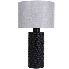 Grey and Black Dinka Table Lamp
