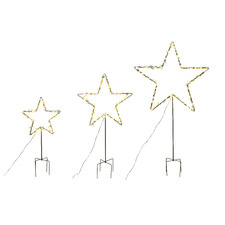 3 Piece Star LED Stake Lights