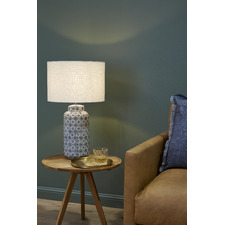Blue and White Afra Ceramic Table Lamp