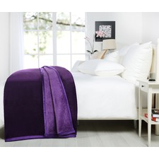 Purple Luxury 500gsm Mink Blanket