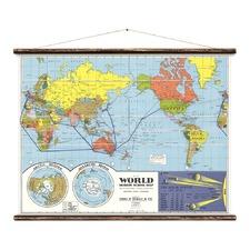 The World - School Map Wall Art