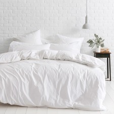 White Vintage Softwash Cotton Quilt Cover Set