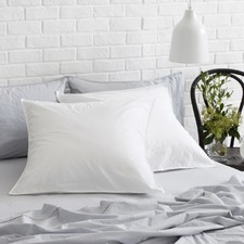 2 Pack of White Vintage Cotton Euro Pillow Cases