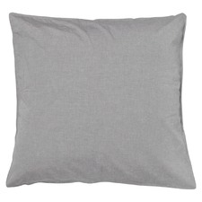 2 Pack of Smokey Grey Melange Vintage Cotton Euro Pillow Cases