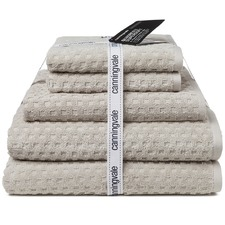 Silver Artemis Quadretti Super Soft 5 Piece Towel Set