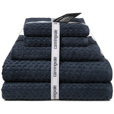 Blue Eclipse Quadretti Super Soft 5 Piece Towel Set