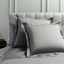 Pewter Mille 1000TC Cotton Euro Pillowcases