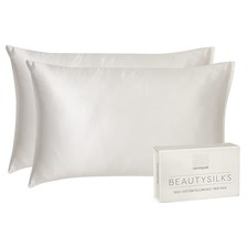 Cream Beautysilks Standard Pillowcases (Set of 2)