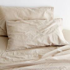 Sogno Cappuccino Taupe Linen & Cotton Sheet Set