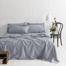 Denim Melange Vintage Soft Wash Cotton Sheet Set