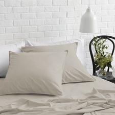 Natural Melange Soft Wash Cotton Euro Pillowcases (Set of 2)