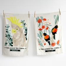 Aussie Native Birds Teatowels (Set of 2)