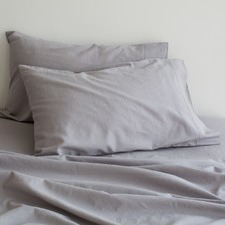 Grey Sogno Linen Blend Sheet Set