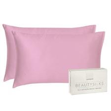 Pink Beautysilks Standard Pillowcases (Set of 2)