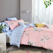 Blush Pink Marena Cotton Quilt Cover Set