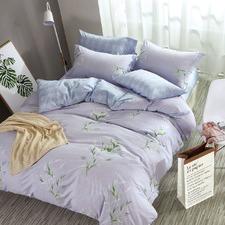 Periwinkle Blue Marena Cotton Quilt Cover Set