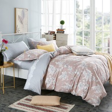 Dusty Pink Ornella Cotton Quilt Cover Set