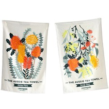 Aussie Native Flora Teatowels (Set of 2)
