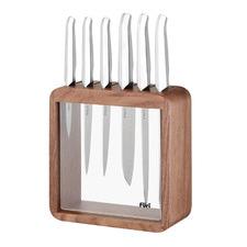 8 Piece Pro Stainless Steel Knife Block Set