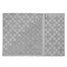 Grey Marle Check Bathroom Towels