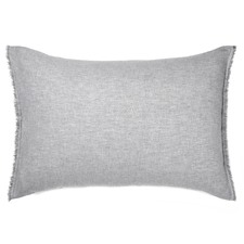 Dove Chambray Fringe Standard Pillowcase