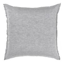 Dove Chambray Fringe Euro Pillowcase