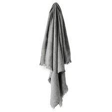 Smoke Vintage Linen Throw