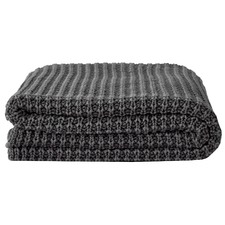 Ribbed Cotton Knit Throw