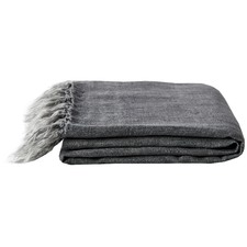 Vintage Wash Linen Fringe Throw