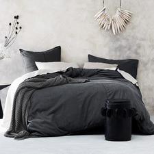 Grey Denim Cotton Quilt Cover Set