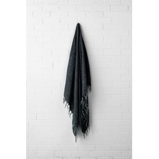 Vintage Fringed Linen Throw